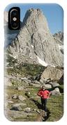 A Woman Trail Running In The Cirque IPhone Case
