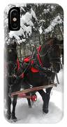 A Wonderful Day For A Sleigh Ride IPhone Case