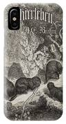 A Woodland Scene With German Lettering IPhone Case