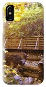 A Woodsy Walk In Golden Fall Color IPhone Case