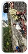 A Young Boy And Climbers In Yosemite IPhone Case