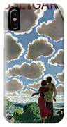A Young Couple And Their Dogs On A Hilltop IPhone X Case