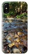 A Young Man Watches A Shallow River IPhone Case