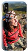 A Young Woman Hiking On Cadillac IPhone Case
