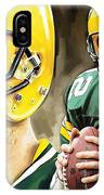 Aaron Rodgers Green Bay Packers Quarterback Artwork IPhone Case