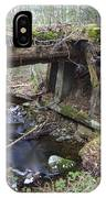 Abandoned Boston And Maine Railroad Timber Bridge - New Hampshire Usa IPhone Case