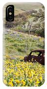 Abandoned Ford Buried In Wildflowers IPhone Case