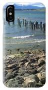 Abandoned Old Pier In Puerto Natales Chile IPhone Case