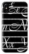 Abc 123 Black IPhone X Case