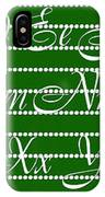 Abc 123 Green IPhone Case