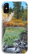 Above The Lake ..moose IPhone Case