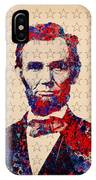 Abraham Lincoln Pop Art IPhone Case