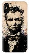 Abraham Lincoln Splats Color IPhone Case