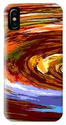Abstract #140814 - Inside The Pipeline IPhone Case