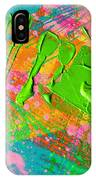 Abstract 6814 Diptych Cropped Xvi  IPhone Case