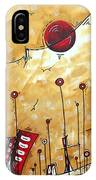 Abstract Art Cityscape Original Painting The Garden City By Madart IPhone Case