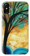 Abstract Art Contemporary Painting Summer Blooms By Madart IPhone Case