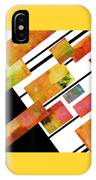 abstract art Homage to Mondrian IPhone Case