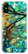 Abstract Art Landscape Circles Painting A Secret Place 2 By Madart IPhone Case