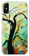 Abstract Art Landscape Circles Painting A Secret Place 3 By Madart IPhone Case