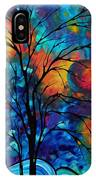 Abstract Art Landscape Tree Bold Colorful Painting A Secret Place By Madart IPhone Case