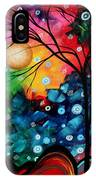 Abstract Art Landscape Tree Painting Brilliance In The Sky Madart IPhone Case