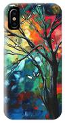 Abstract Art Original Colorful Painting Spring Blossoms By Madart IPhone Case