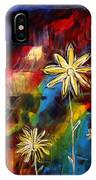 Abstract Art Original Daisy Flower Painting Visual Feast By Madart IPhone Case