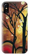 Abstract Art Original Landscape Painting Catch The Rising Sun By Madart IPhone Case