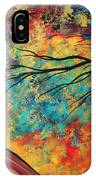 Abstract Art Original Landscape Painting Go Forth I By Madart Studios IPhone Case