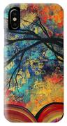 Abstract Art Original Landscape Painting Go Forth II By Madart Studios IPhone Case