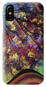 Abstract Art Original Landscape Painting Go Forth IIi By Madart Studios IPhone Case