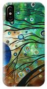 Abstract Art Original Landscape Painting Mint Julep By Madart IPhone Case