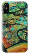 Abstract Art Original Landscape Wild Abandon By Madart IPhone Case