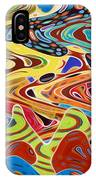Abstract Background With Bright Colored Waves 17 IPhone Case