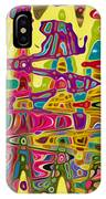 Abstract Background With Bright Colored Waves 5 IPhone Case