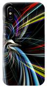 Abstract Bird In Light IPhone Case