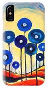 Abstract Blue Symphony  IPhone Case
