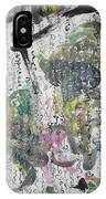 Abstract Calligraphy Art Painting Black Pink Green Gray Art Spring Color Painting Rice Paper Art Sjk IPhone Case