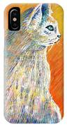 Jazzy Abstract Cat IPhone Case