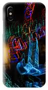 Abstract Christmas Lights - Color Twists And Swirls  IPhone Case