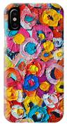 Abstract Colorful Flowers 1 - Paint Joy Series IPhone Case