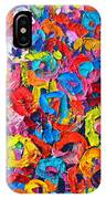 Abstract Colorful Flowers 3 - Paint Joy Series IPhone Case