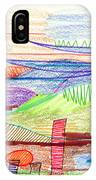 Abstract Drawing Four IPhone Case