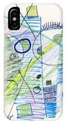 Abstract Drawing Seven IPhone Case