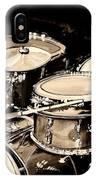 Abstract Drum Set IPhone Case