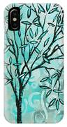 Abstract Floral Birds Landscape Painting Bird Haven II By Megan Duncanson IPhone Case