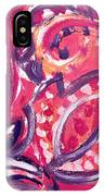 Abstract Floral Design Purple Note IPhone Case