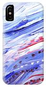 Abstract Floral Marble Waves IPhone Case
