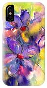 abstract Flower botanical watercolor painting print IPhone Case